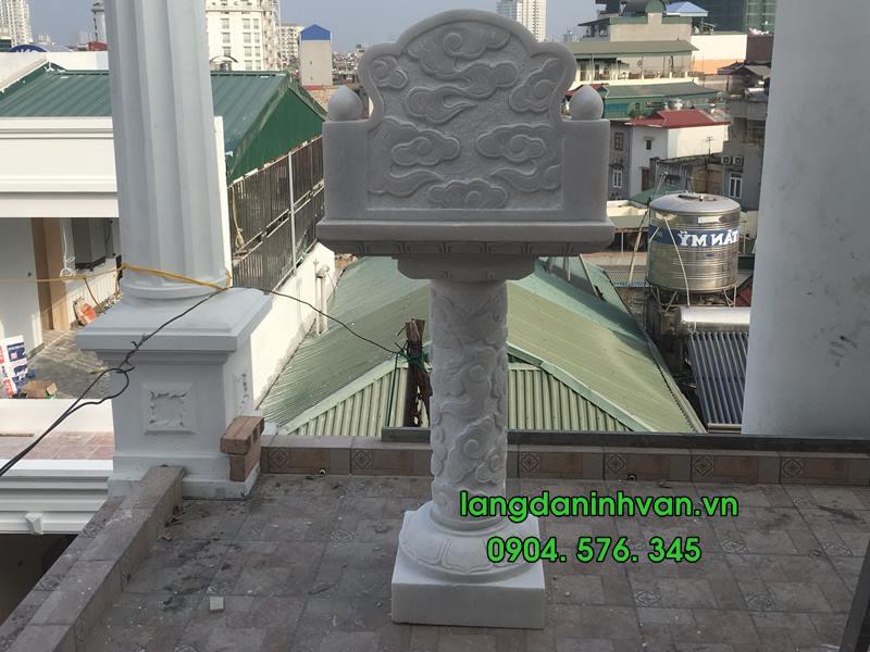 bàn thờ thiên bằng đá trắng lắp đặt tại hà nội