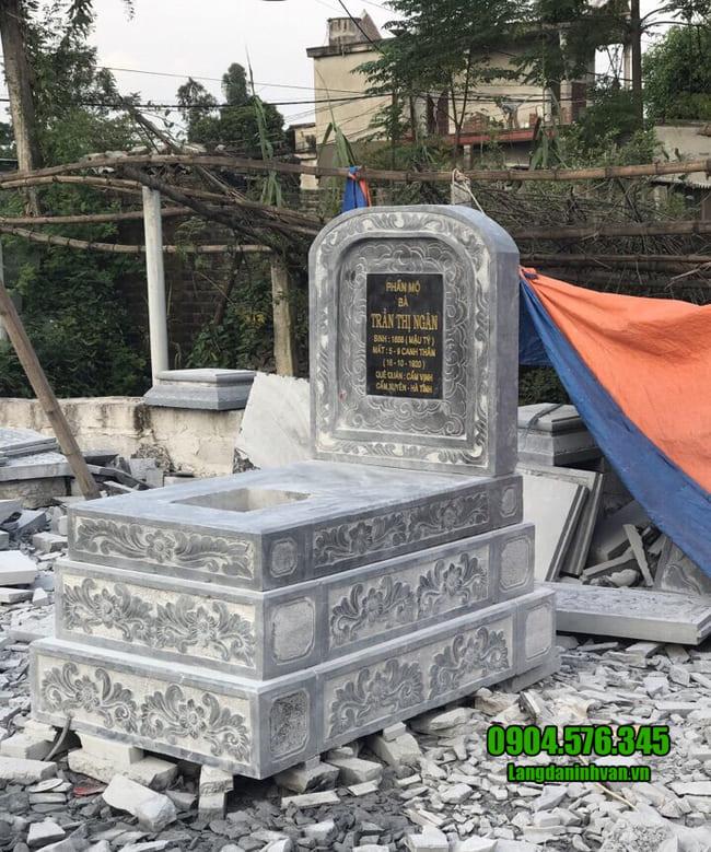 lắp đặt mộ tam cấp đá đẹp tại bình phước