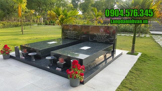 mẫu mộ đôi đá hoa cương đẹp nhất