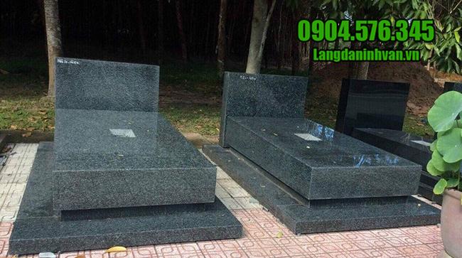 mẫu mộ đôi đá hoa cương nguyên khối