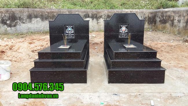 mộ đá hoa cương dành cho hai người