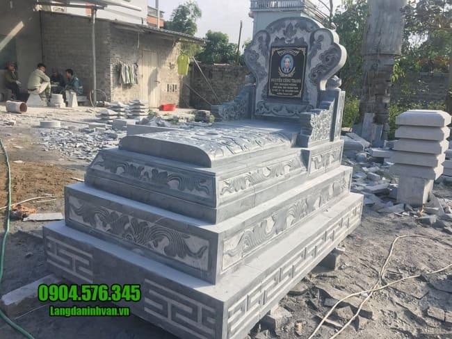 mẫu mộ bành đá đẹp tại đồng tháp