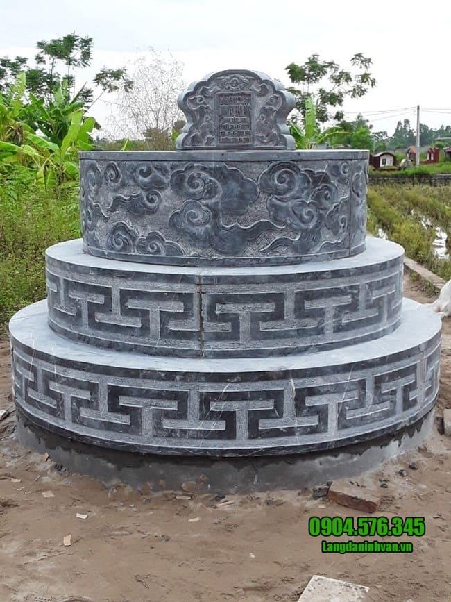 mẫu mộ đá tròn đẹp tại bình phước