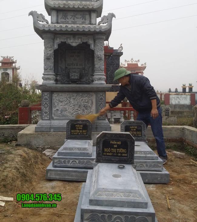 mẫu mộ tam cấp đá đẹp tại đồng tháp