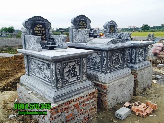 mẫu mộ tam sơn đá đẹp tại đồng tháp