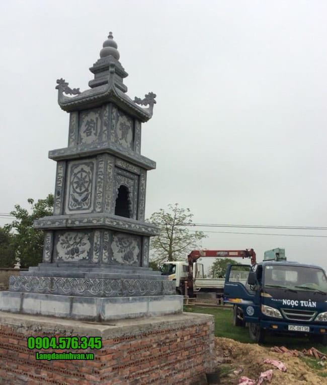 mẫu mộ tháp đá đẹp tại đồng tháp
