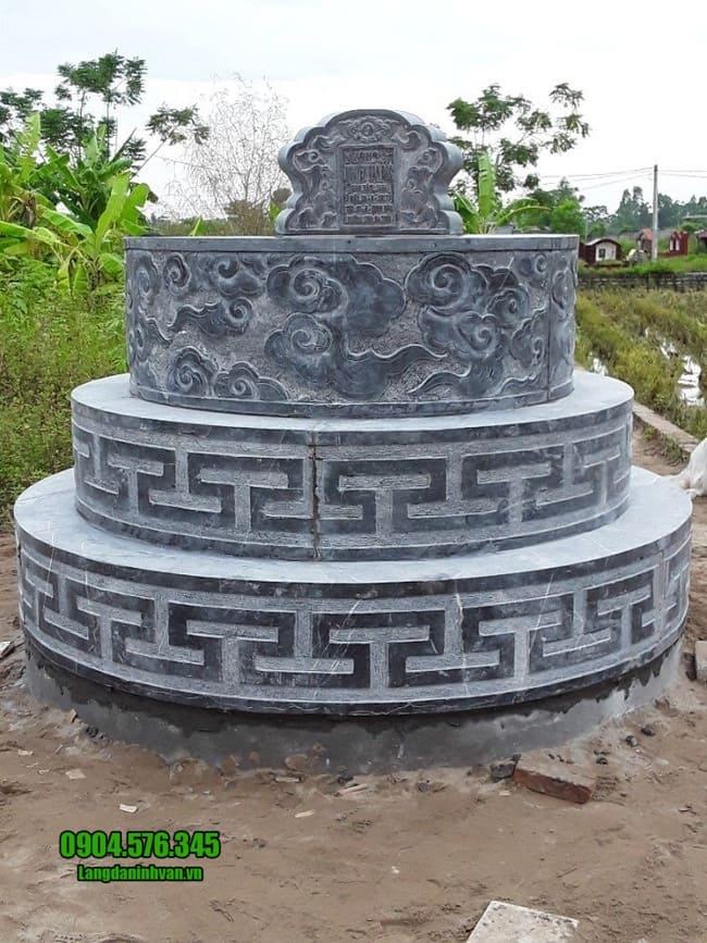 mẫu mộ tròn bằng đá đẹp tại đồng tháp