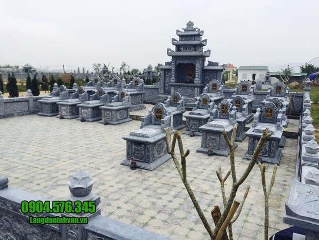 mẫu khu lăng mộ bằng đá đẹp nhất tại Quảng Trị