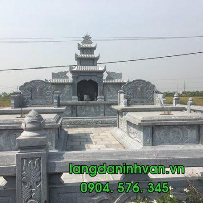 Mẫu khu lăng mộ đá đẹp nhất lắp đặt tại Hưng Yên