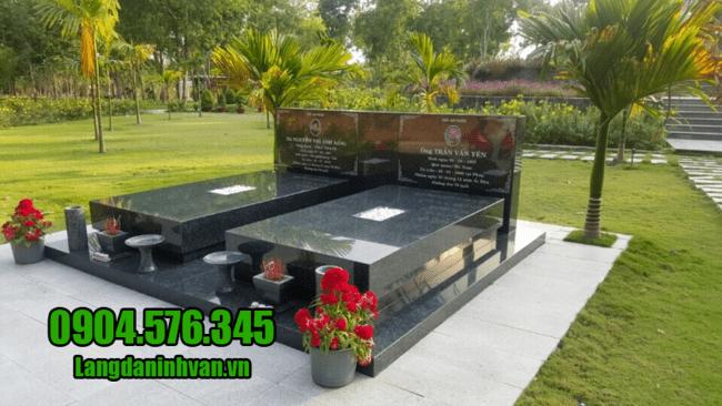 Mẫu mộ đẹp đá hoa cương