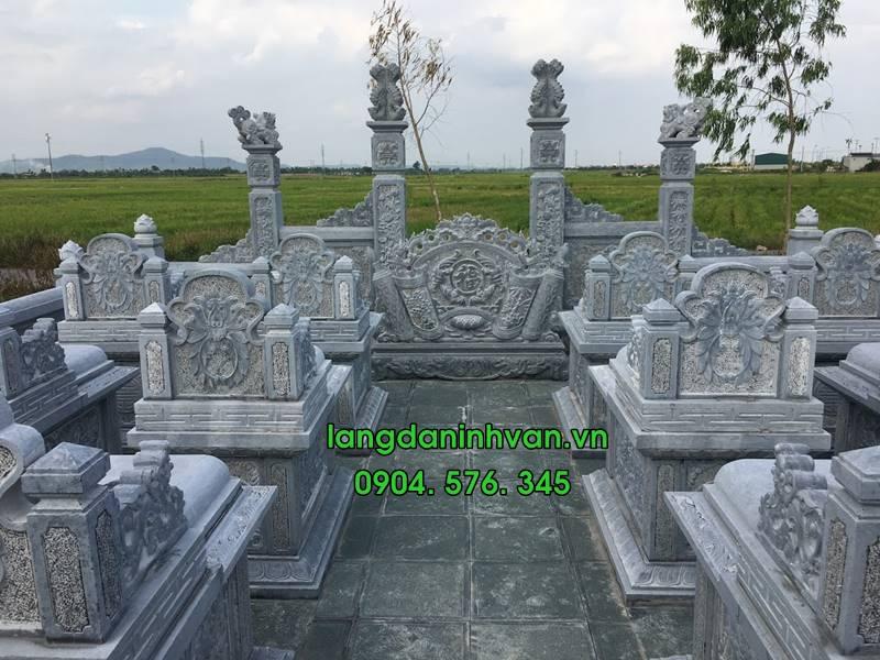 Khu lăng mộ đá cổng đá cuốn thư đá đẹp