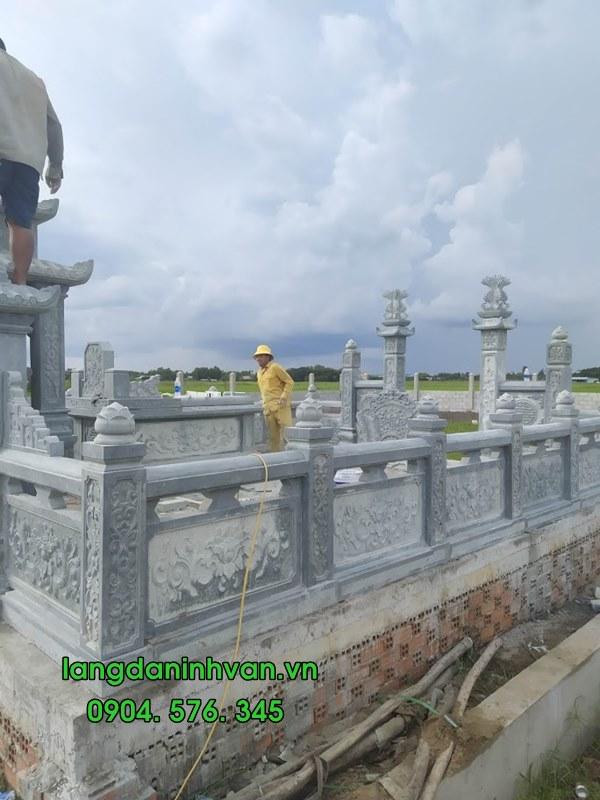 lăng đá mộ đá đẹp được lắp đặt tại thái nguyên