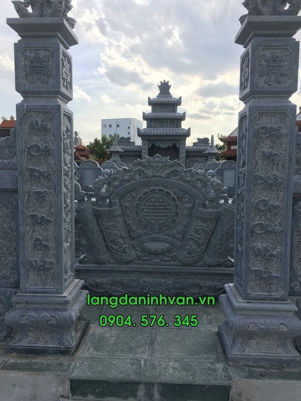 Mẫu cổng đá khu lăng mộ đá đẹp hiện đại đơn giản