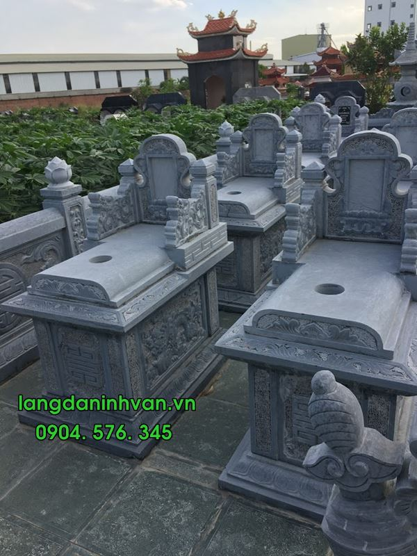 mẫu mộ đá hậu bành đẹp được lắp đặt tại hải phòng