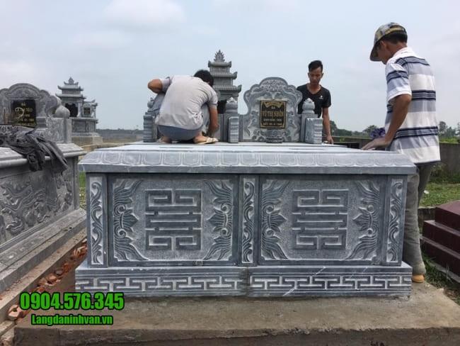 mộ đôi bằng đá đẹp nhất