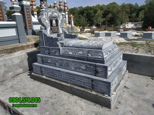 mộ tam sơn đá xanh đẹp