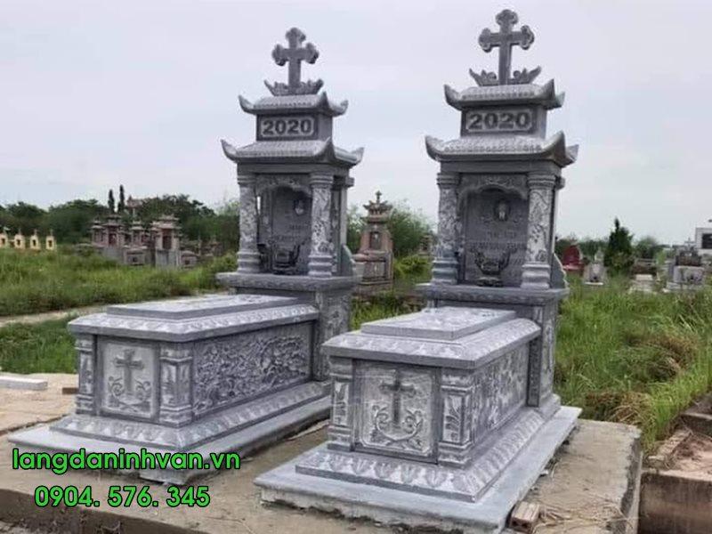 Mẫu mộ công giáo bằng đá tự nhiên đẹp nhất