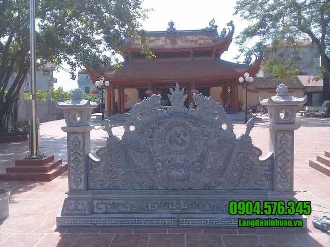 mẫu cuốn thư bằng đá tại Lạng Sơn