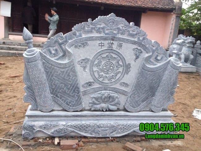 mẫu cuốn thư bằng đá tại Thái Nguyên đẹp