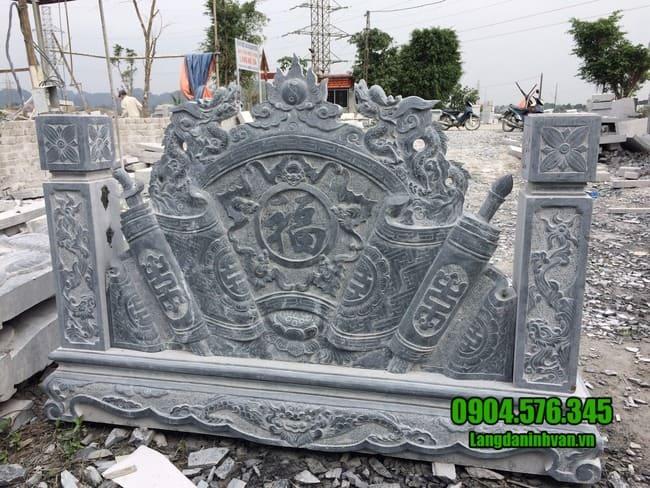 mẫu cuốn thư bằng đá tại Thái Nguyên