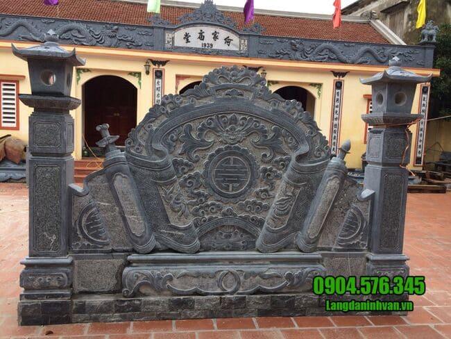 mẫu cuốn thư đá tại Lạng Sơn