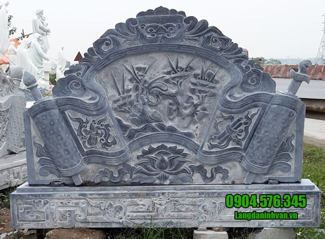mẫu cuốn thư đá tại Thái Nguyên