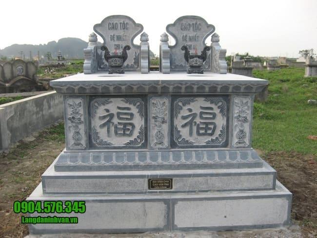 mẫu mộ đá đôi tại Ninh Thuận đẹp nhất