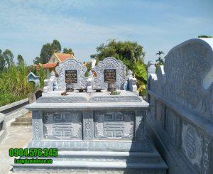mẫu mộ đôi bằng đá đẹp tại Ninh Thuận