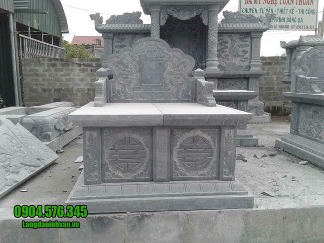 mộ đôi đá mỹ nghệ tại Ninh Thuận