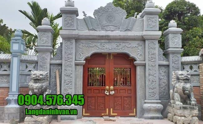 mẫu cổng nhà thờ họ bằng đá tại Hà Nội đẹp nhất