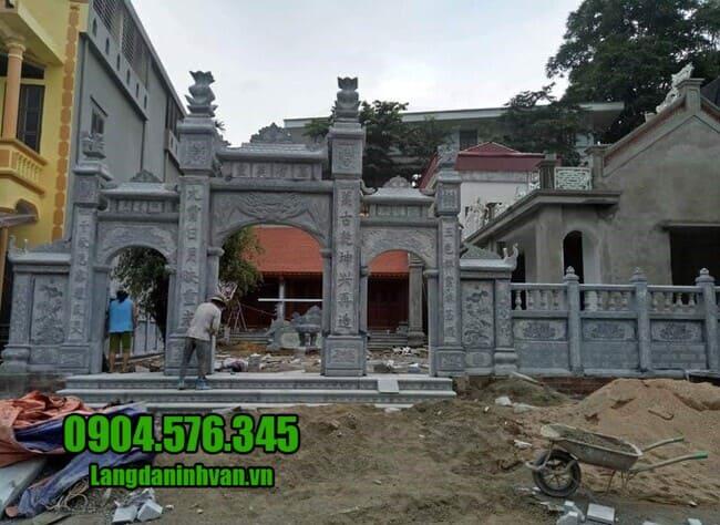 mẫu cổng nhà thờ họ bằng đá tại Hà Nội đẹp