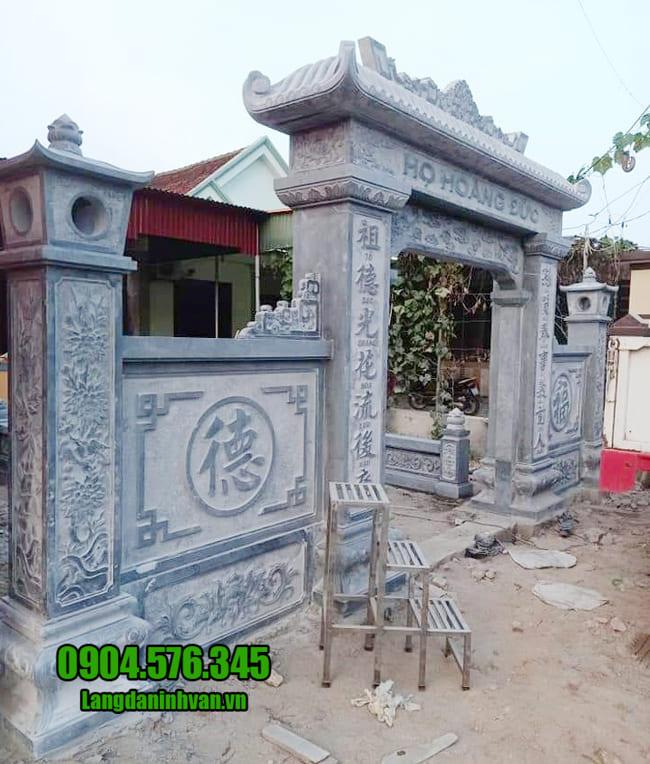 mẫu cổng nhà thờ họ tại Hà Nội đẹp