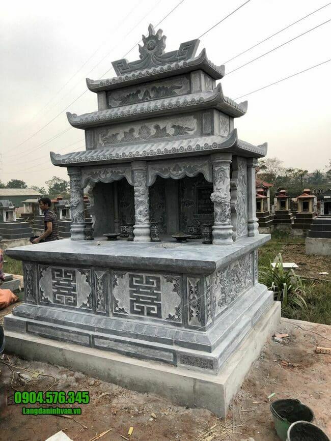 mẫu mộ đá đôi tại Hà Nội đẹp