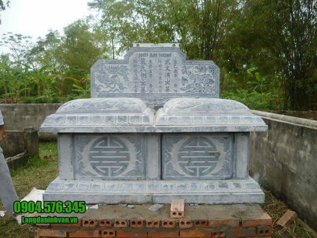 mộ đôi bằng đá tại Hà Nội đẹp