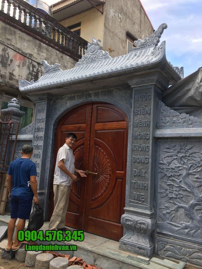 các mẫu cổng nhà thờ họ bằng đá tại Thái Bình