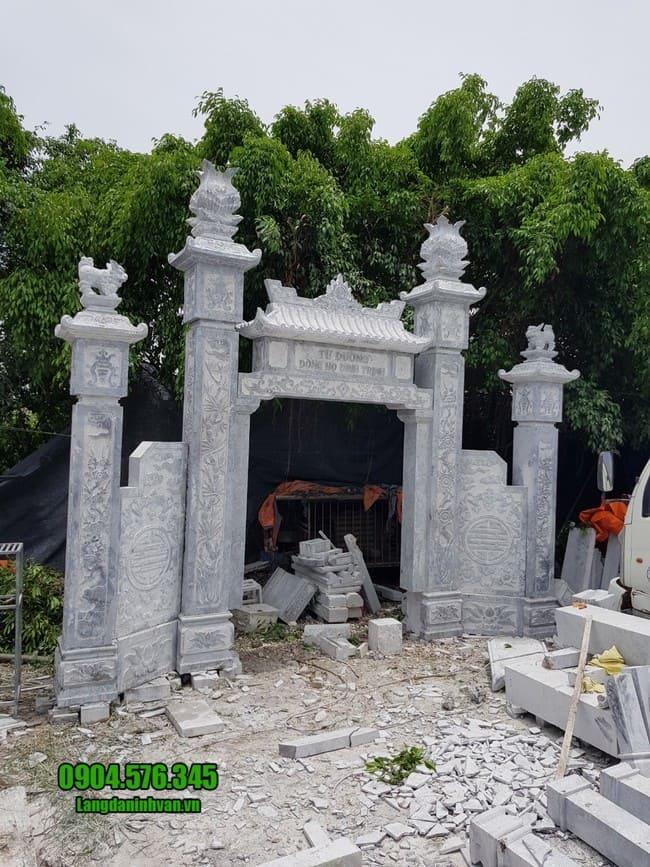 cổng đá nhà thờ họ tại Hưng Yên