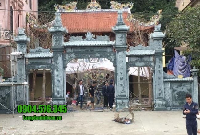 cổng nhà thờ họ bằng đá đẹp tại Vĩnh Phúc