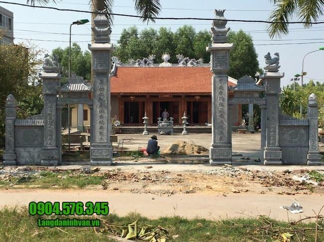 cổng nhà thờ họ bằng đá tại Hưng Yên