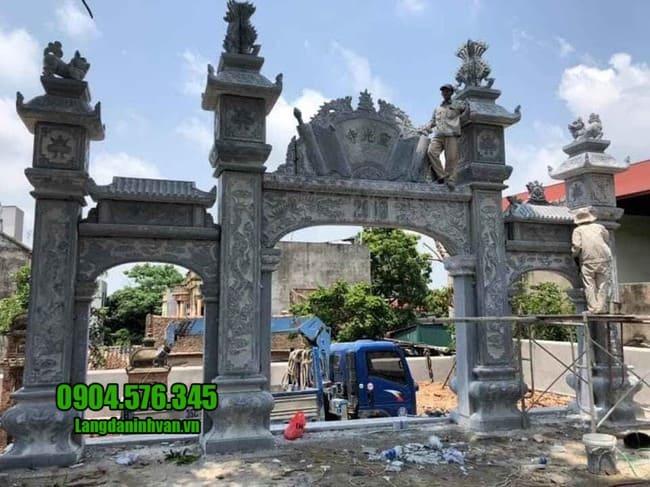 cổng nhà thờ họ bằng đá tại Vĩnh Phúc