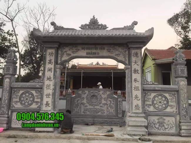 cổng nhà thờ họ tại Hưng Yên đẹp