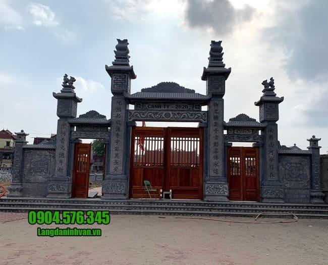 cổng tam quan bằng đá đẹp tại Hải Dương