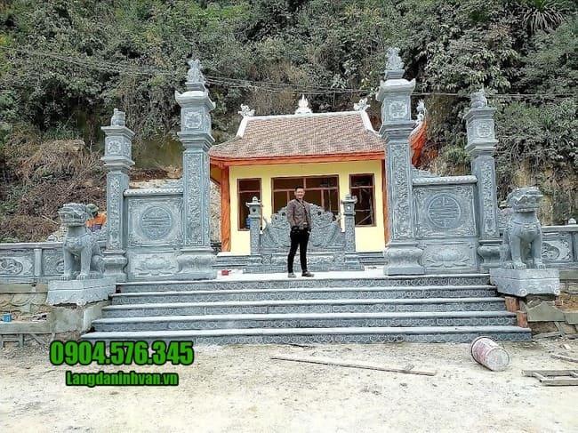mẫu cổng đá nhà thờ họ tại Hưng Yên