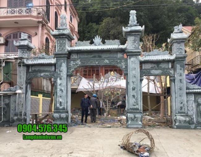 mẫu cổng đá nhà thờ họ tại Vĩnh Phúc