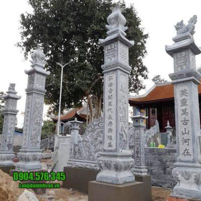 mẫu cổng nhà thờ họ bằng đá tại Hưng Yên