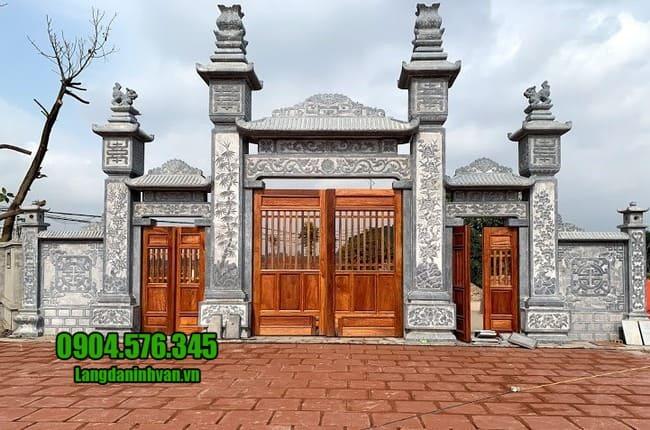 mẫu cổng nhà thờ họ đẹp tại Vĩnh Phúc