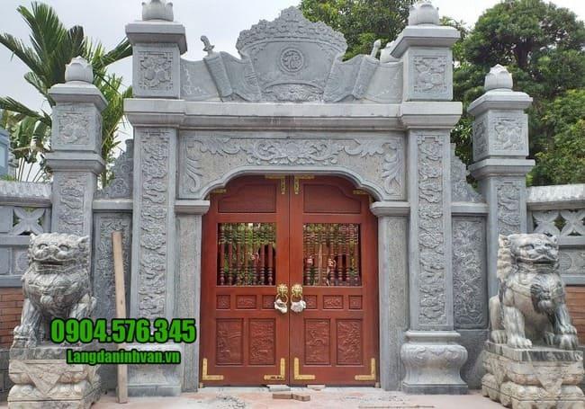 mẫu cổng tam quan bằng đá tại Hải Dương