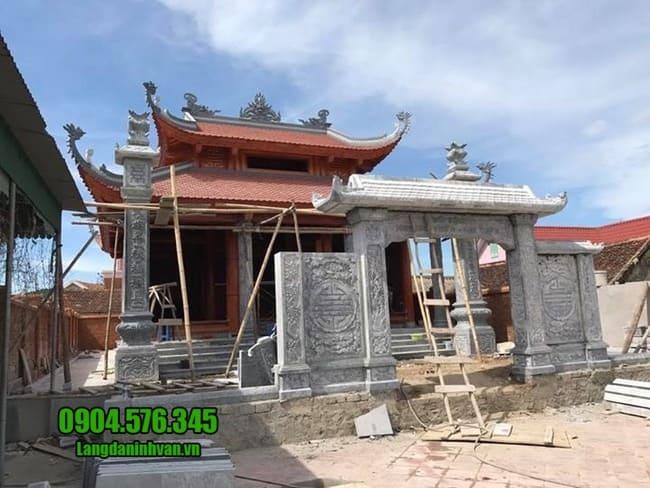 mẫu cổng tam quan đá đẹp tại Hải Phòng