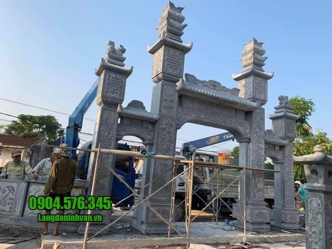 mẫu cổng tam quan đá tại Hải Phòng đẹp