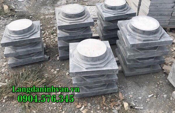 Chân cột đá - Đá kê chân cột - Mẫu chân tảng đá tròn, vuông đẹp giá rẻ