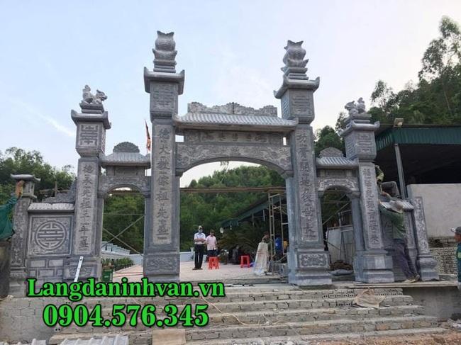 Cổng đá - Mẫu cổng tam quan bằng đá tự nhiên đẹp - Báo giá cổng đá